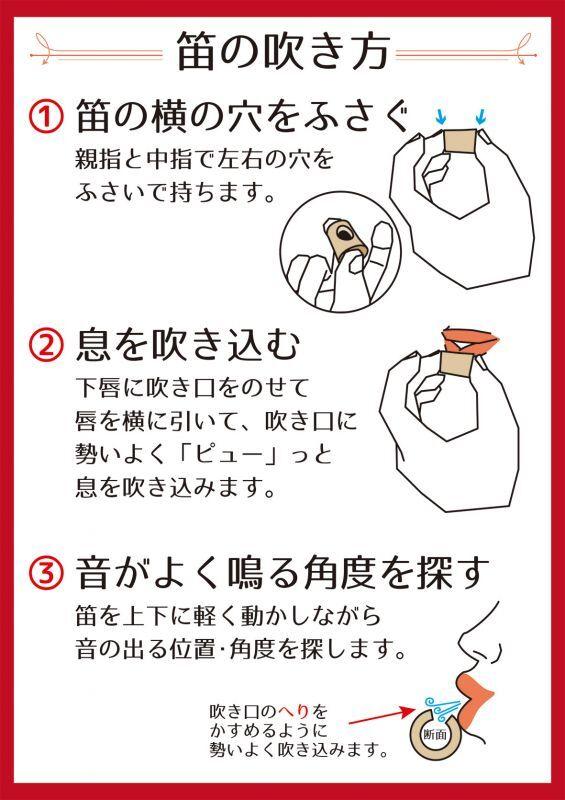の 方 吹き 笛 指 横笛の吹き方、運指・指使い・音階 3